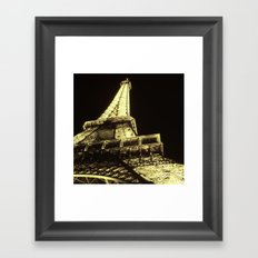 eiffel@night Framed Art Print