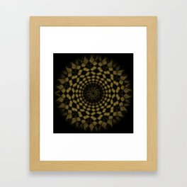 Golden Funnel Framed Art Print