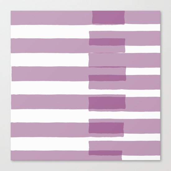 Big Stripes in Purple Canvas Print
