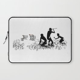 Banksy Trolleys Men Hunting Supermarket Carts Artwork Reproduction for Prints Posters Tshirts Laptop Sleeve