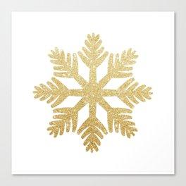 Gold Glitter Snowflake Canvas Print