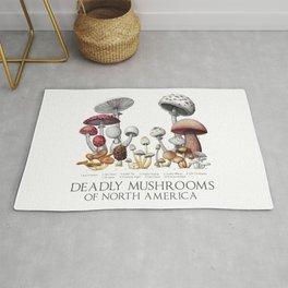 Deadly Mushrooms of North America Rug