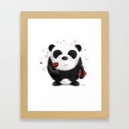 Valentine's Panda by dana alfonso Framed Art Print