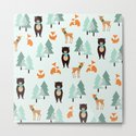 Animals in the winter - pattern #society6 by justynapszczolka