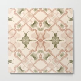 Antique White Brass and Bronze Kaleidoscope Pattern #1 Metal Print