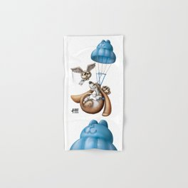Flying basset Hand & Bath Towel