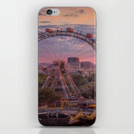 Wheel of fortune in Vienna iPhone Skin