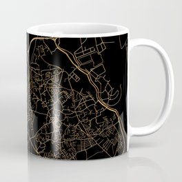 Black and gold Marrakesh map Coffee Mug
