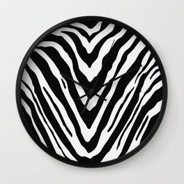 Zebra Stripes in Black and White Wall Clock