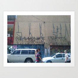 urban art in sao paulo, brazil Art Print