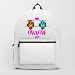 Owl Love Owls Zoo Forest friend heart Backpack