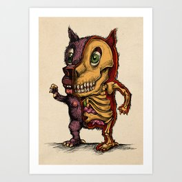 Furry Insides Art Print