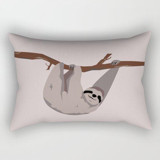 Sloth just hangin' Rectangular Pillow