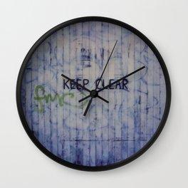 Keep Clear Wall Clock