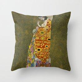 Gustav Klimt - Hope II Throw Pillow