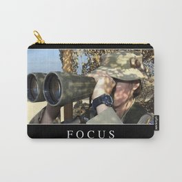 Focus: Inspirational Quote and Motivational Poster Carry-All Pouch