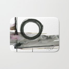 Enso Abstraction No. 112 by Kathy morton Stanion Bath Mat