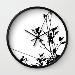 Botanical Contrast Wall Clock