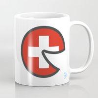 switzerland Mugs featuring Switzerland Smile by onejyoo