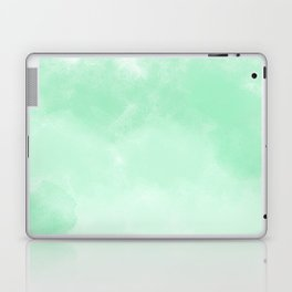 Mint Watercolor Abstract Laptop & iPad Skin