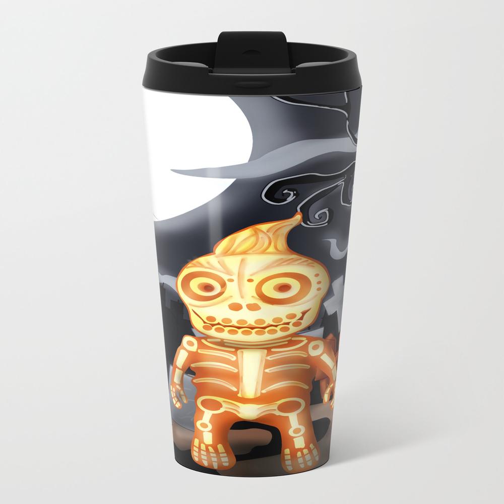Skelton The Chubby Skeleton Metal Travel Mug by Rene_l MTM7842482