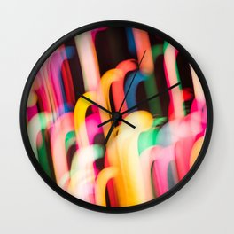 Neon Worms Wall Clock