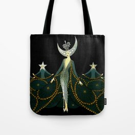 "Art Deco Design ""Queen of the Night"" Tote Bag"