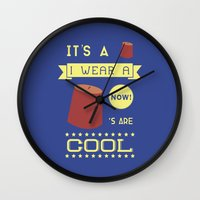 fez Wall Clocks featuring I Wear A Fez Now by Posters 4 Progress