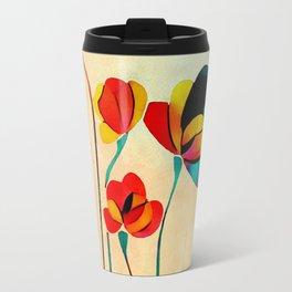 Exotic Watercolor Flower Travel Mug