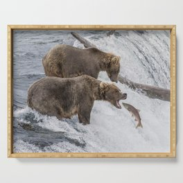 The Catch - Brown Bear vs. Salmon Serving Tray