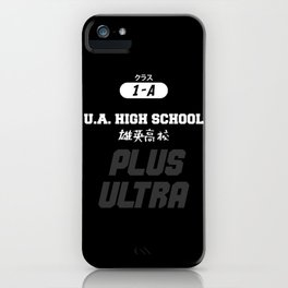 U.A. High School Print iPhone Case