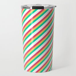 Candy Inclined Stripes Travel Mug
