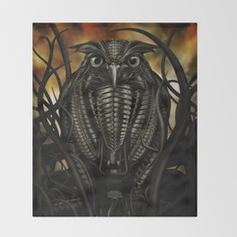 Mechanical Owl Throw Blanket