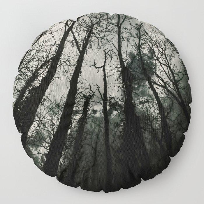Dark Forest Floor Pillow