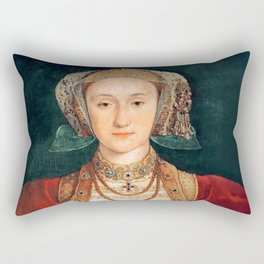 """Hans Holbein the Younger """"Anne of Cleves (1515-1557), fourth wife of King Henry VIII"""" Rectangular Pillow"""