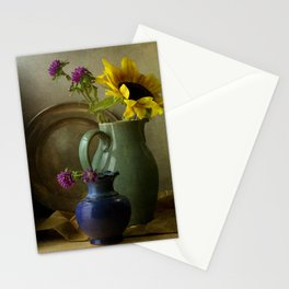 Sunflowers and blue vase Stationery Cards