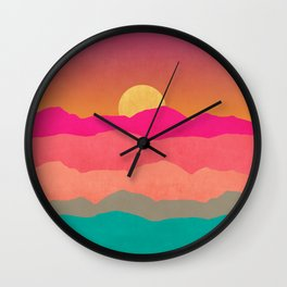 Minimal Landscape 13 Wall Clock