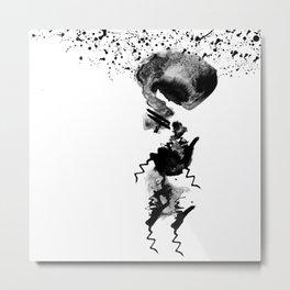 human in shower Metal Print