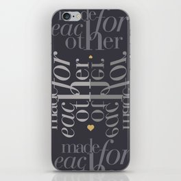 Made for each other #society6 #decor #buyart iPhone Skin