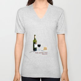 Glass of Wine Unisex V-Neck
