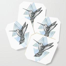 Hummingbird - Blue Coaster