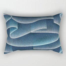 Aurora Borealis_Sky Blue Lights Rectangular Pillow