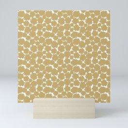 Snowburst Gold Mini Art Print
