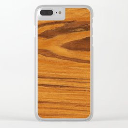 Teak Wood Clear iPhone Case
