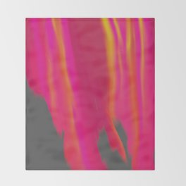 Vibrant Melted Pink Throw Blanket
