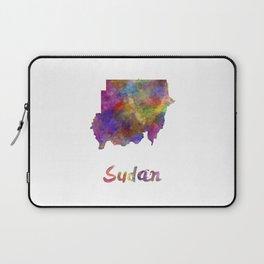 Sudan in watercolor Laptop Sleeve