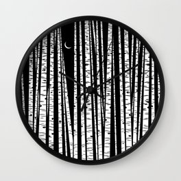 See the Forest Wall Clock