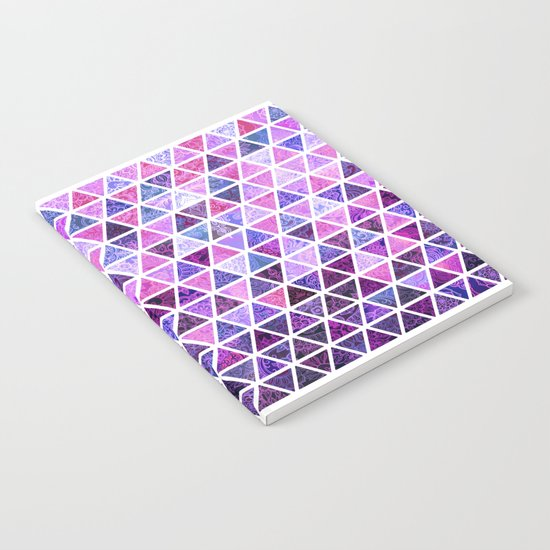 Berry Purples - Triangle Patchwork Pattern Notebook