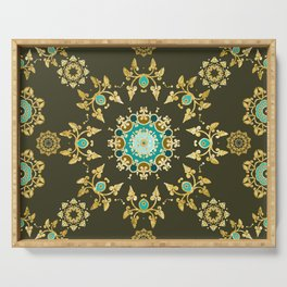 golden pattern Serving Tray