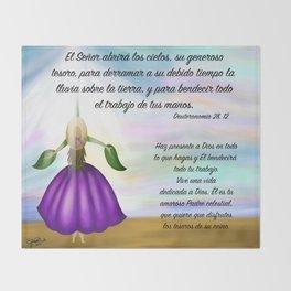 Flor del cielo - Deuteronomio 28, 12 Throw Blanket